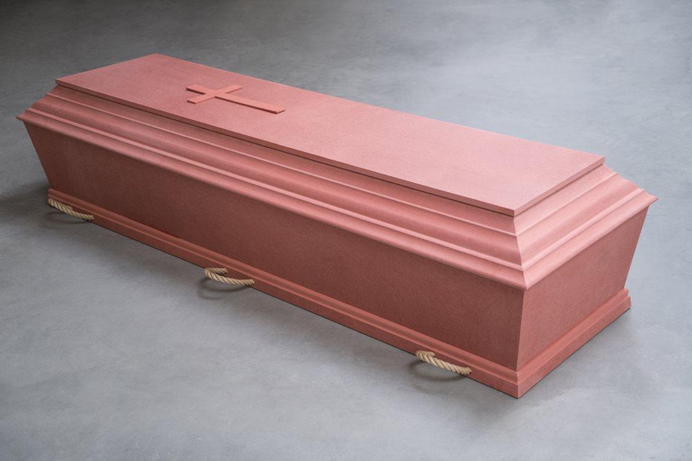 fuglebjergkistefabrik Flex kiste lavet i rød MDF med 6 stropper